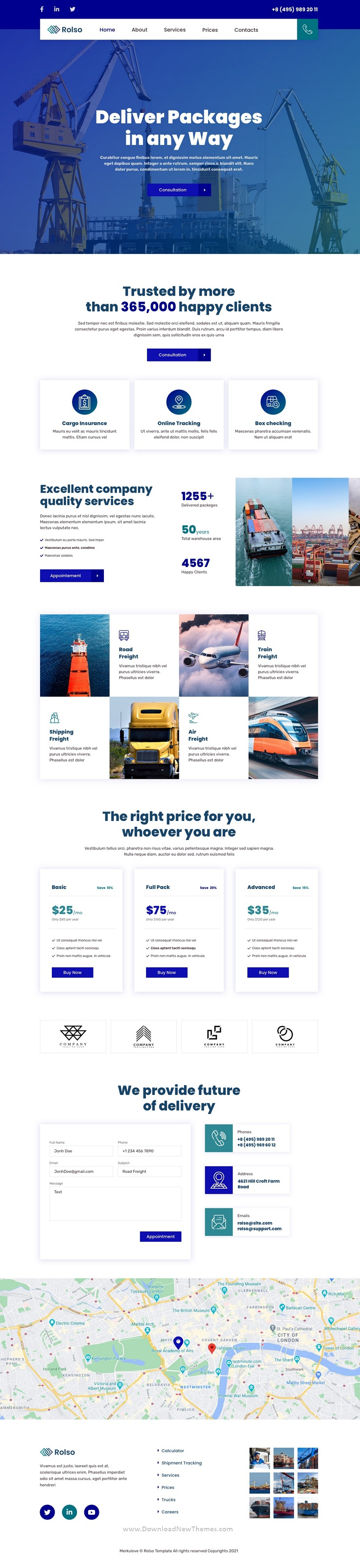 Logistic Company Template