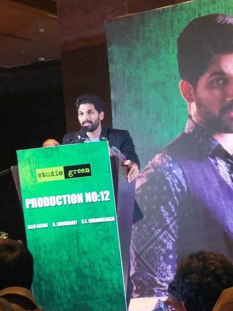 allu arjun latest tamil movie with lingusamy launch photos