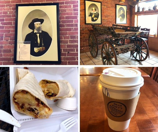 Poetic decor, locally roasted coffee and yummy breakfast options make Dead Poet's Espresso a nice spot for breakfast when visiting the Quad Cities!
