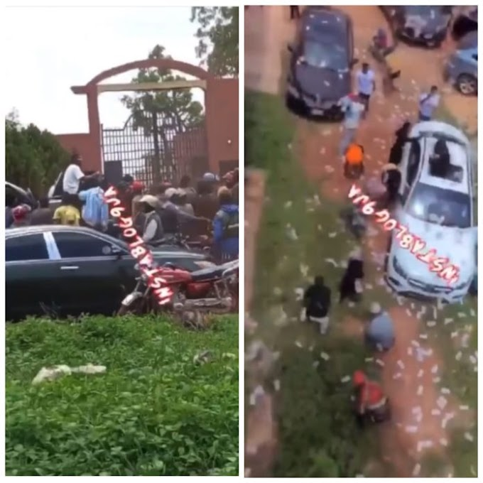 Video of students throwing money around after graduation shock social media users