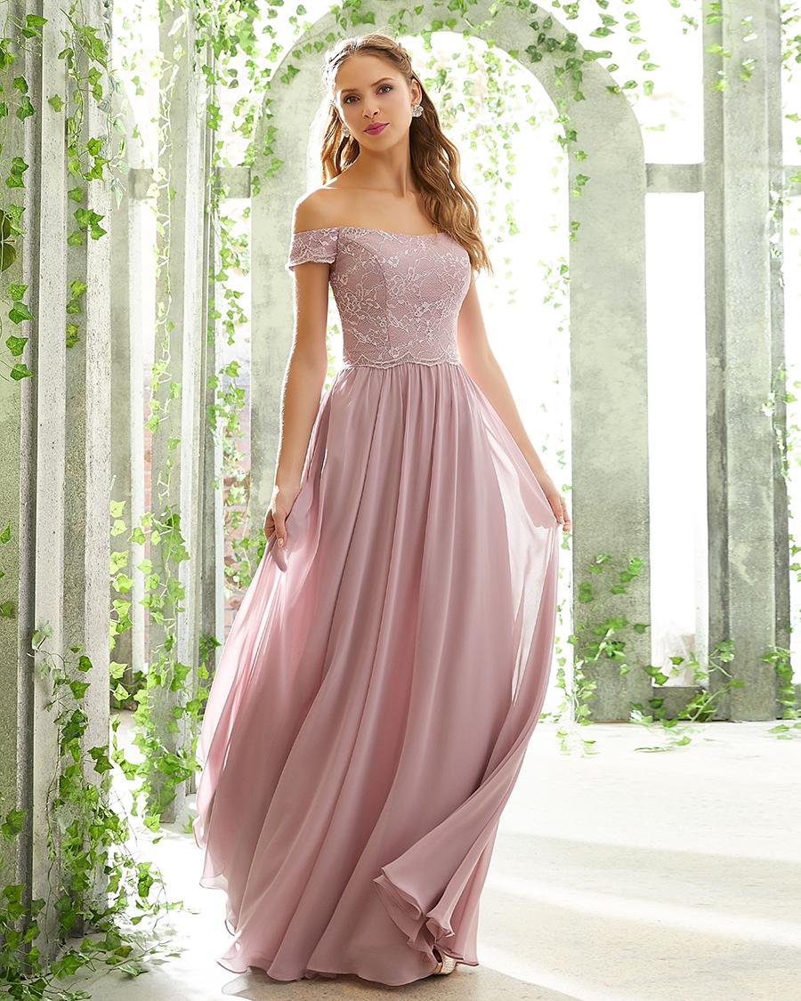 cewek cantik dan manis Lace Bridesmaid Dress