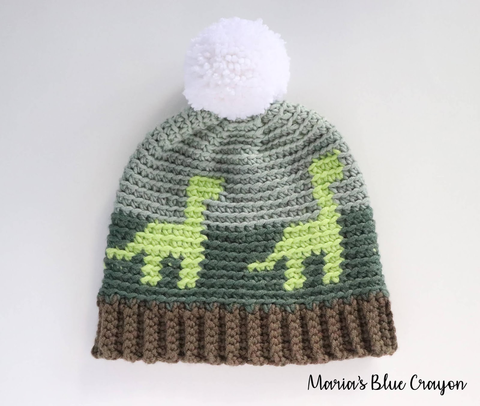Crochet Dinosaur Hat for Kids - Free Crochet Pattern - Maria s Blue ... dca453d868c