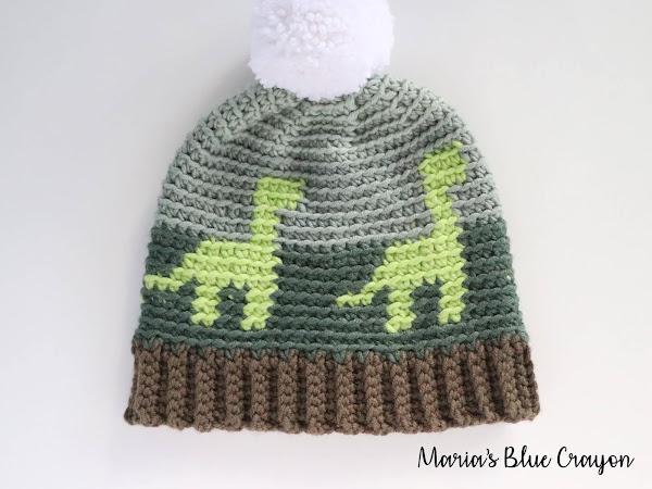 Crochet Dinosaur Hat for Kids - Free Crochet Pattern