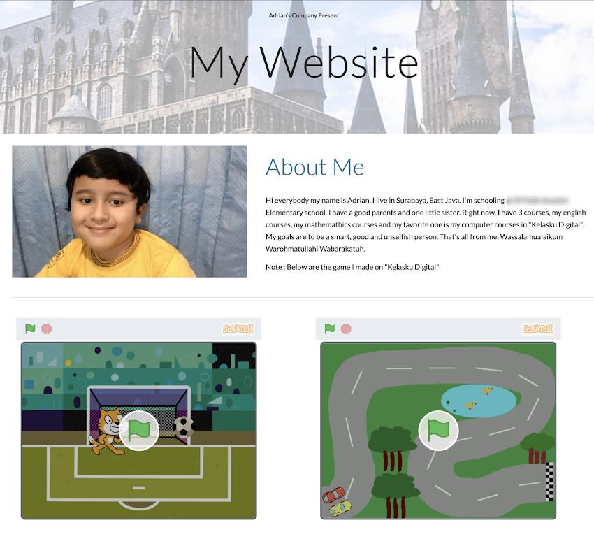 Website Hasil Buatan Anak-Anak Menggunakan Google Sites