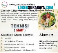 Loker Surabaya di Restoran Greenly Lifestyle Maret 2020 Terbaru
