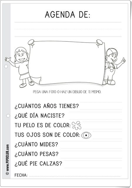 """Agenda infantil"" de Pipo"
