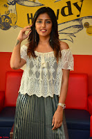 Eesha in a cute deep neck top and Skirt at at Big FM 011.JPG
