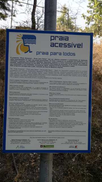 Placa Praia Acessível praia para todos