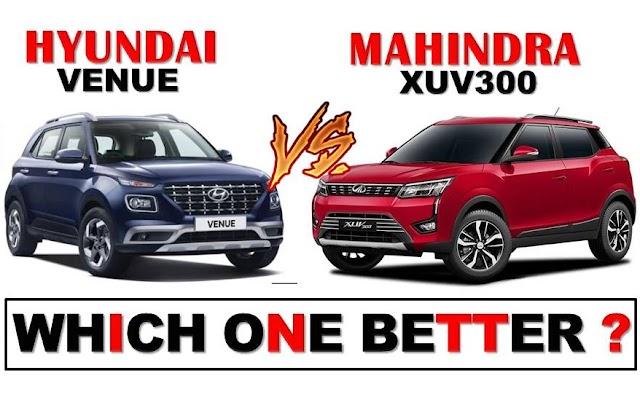 Hyundai Venue Vs Mahindra Xuv300 Comparison, Mileage, Price, Features In Hindi | Venue Vs Xuv300 Comparison