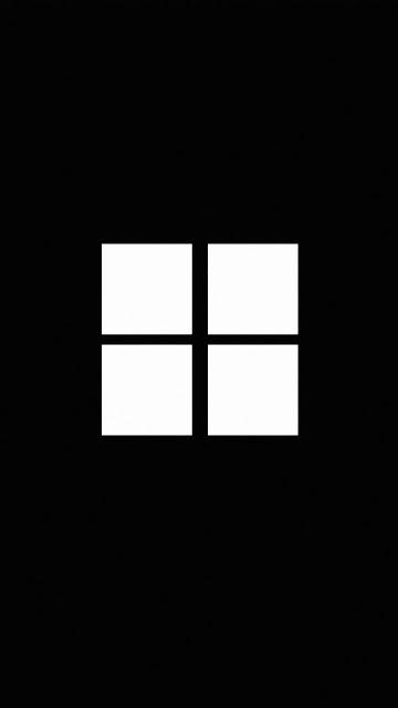 HD Wallpaper Minimalist Windows Logo Black