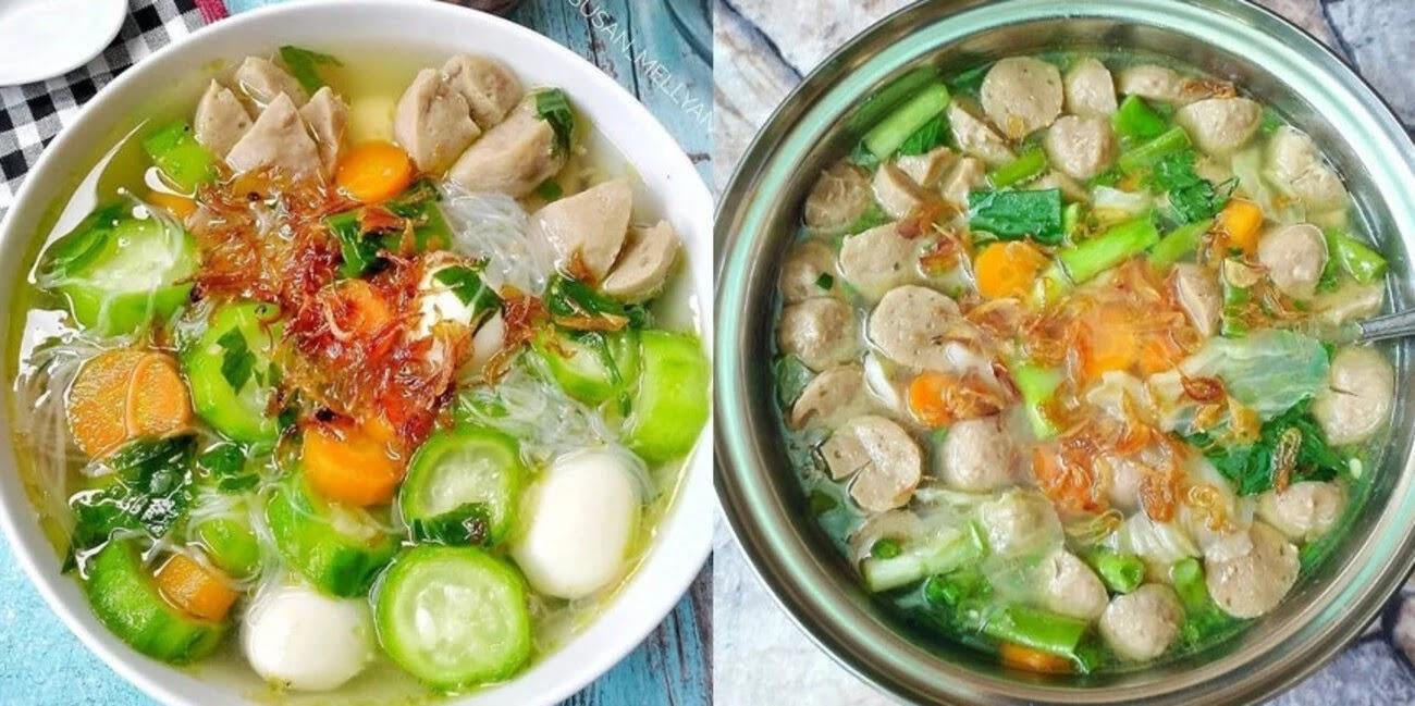 Hangat Bernutrisi Sehat untuk Keluarga, Resep Sup Makaroni Nanas