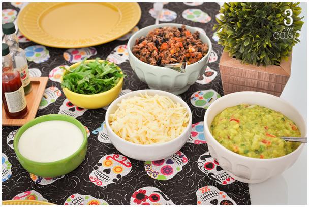 comida mexicana decoração