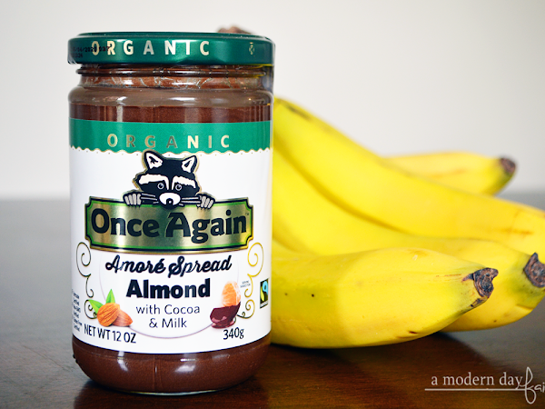 Super Simple Frozen Banana Bites w/Once Again Organic Amore Almond Spread with Milk Chocolate  #momsmeet