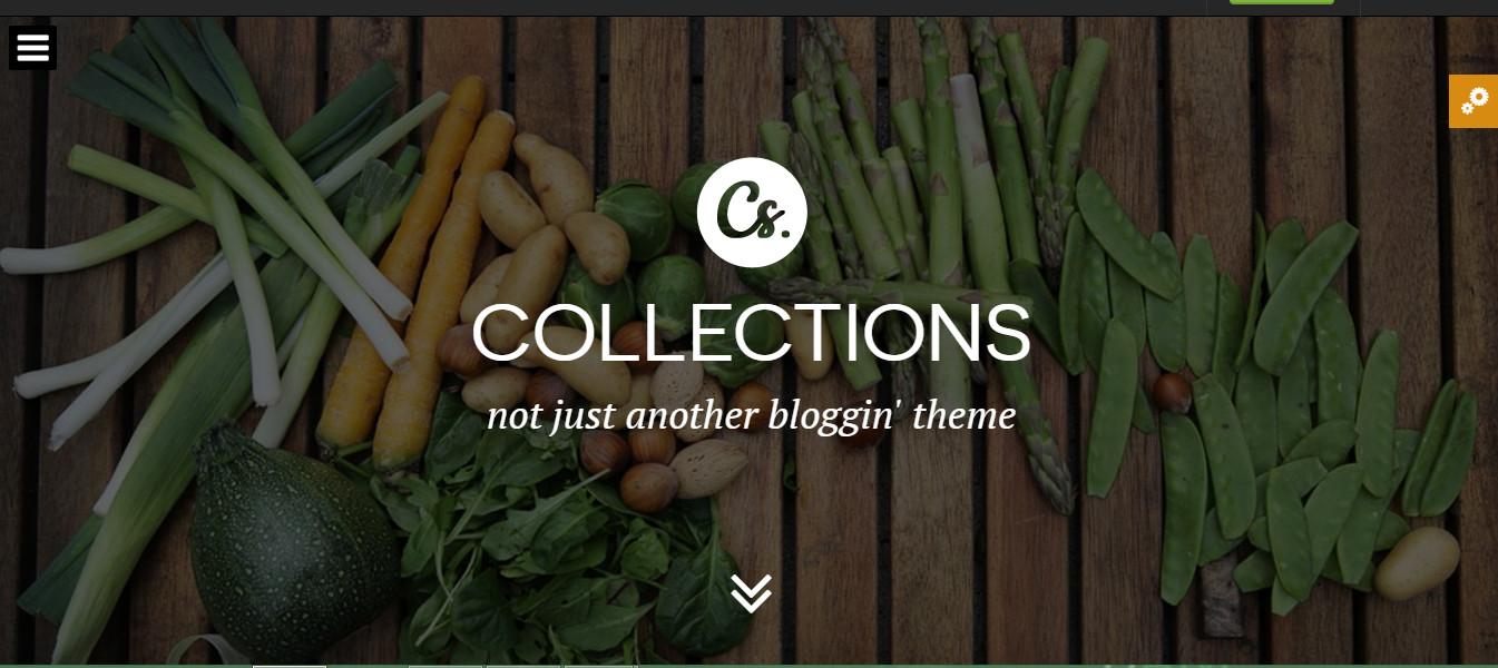 Collections-wordpress personal blog elegant theme