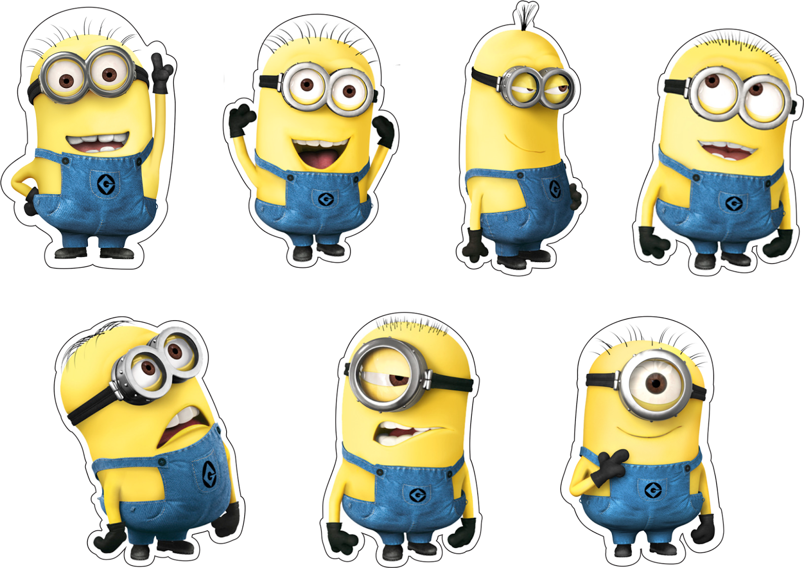 Free Printable Cake Toppers for a Minions Party. - Oh My ...