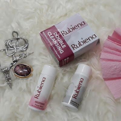 Review Rubiena Cleansing Lotion dan Facial Wash yang Membuat Wajah Lebih Cerah