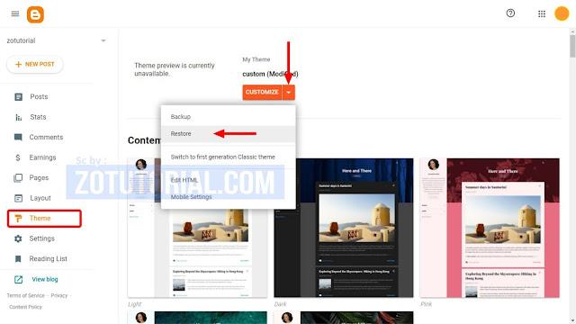 2 Cara Ganti Template Blog Website Blogger Terbaru Dengan Mudah | Blogger Pemula
