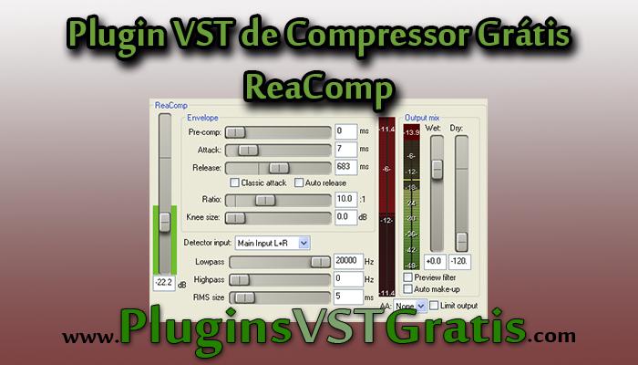 Plugin VST de Compressor Grátis - ReaComp