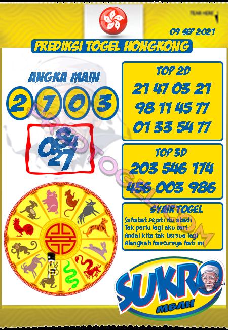 Prediksi Mbah Sukro Hk Kamis 09 September 2021