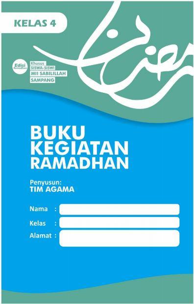 Contoh Buku Kegiatan Ramadan Siswa Kelas 4 SD/MI