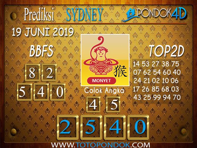 Prediksi Togel SYDNEY PONDOK4D 19 JUNI 2019