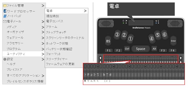 電卓と表示されたポラリスのイメージ図