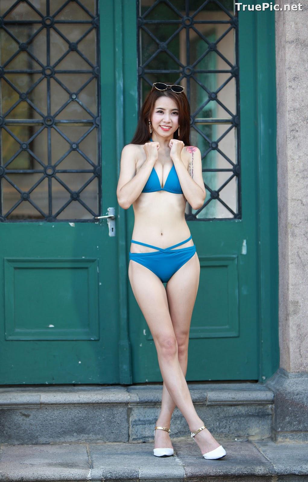 Image Taiwanese Beautiful Model - Debby Chiu - Blue Sexy Bikini - TruePic.net - Picture-2