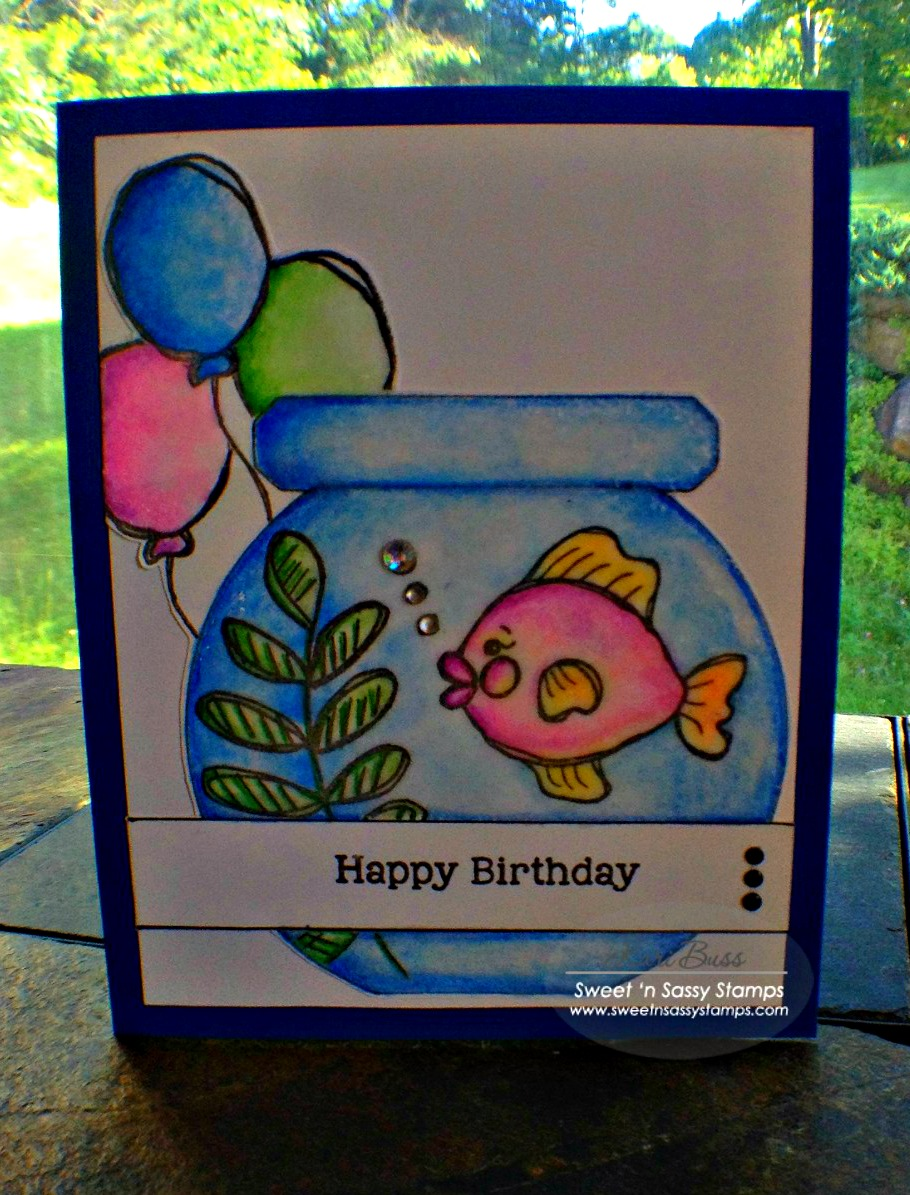 Happy Sweet 16 To Dylan S Candy Bar: Sweet 'n Sassy Stamps: Happy Birthday Fishes