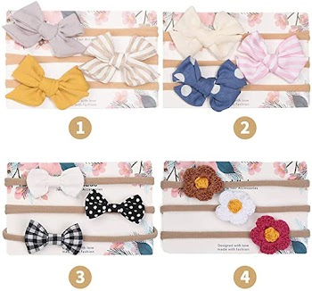 60% off Baby Girl Headbands Bows flowers,12 Pack Hair Accessories for Newborn Infant Toddler Gift