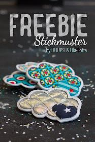 Freebie Wolke Stickmuster