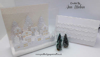 Acetate Christmas village box. Positivelypapercraft Tutorial