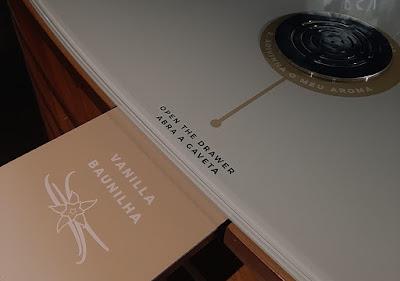 display com aromas de vinho do Porto