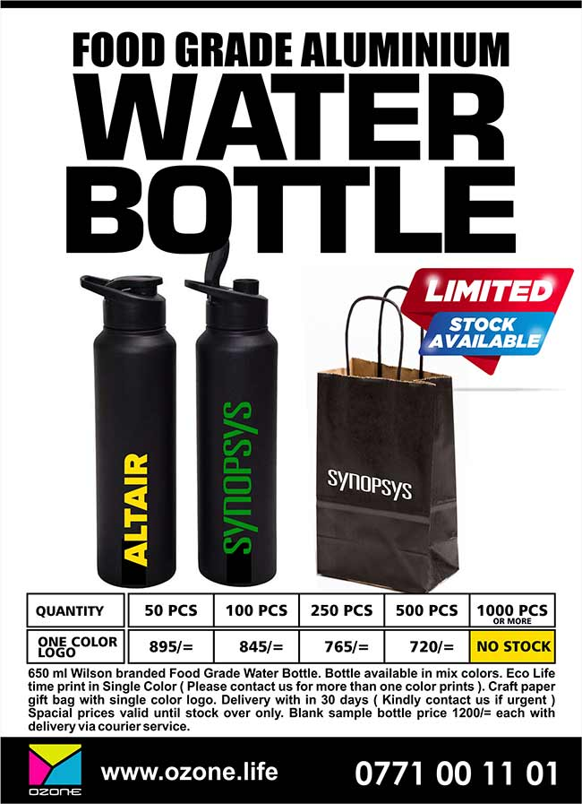 Food Grade Aluminum Water Bottle with Logo and Gift Bag.
