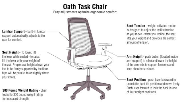 KI Oath Chair Features