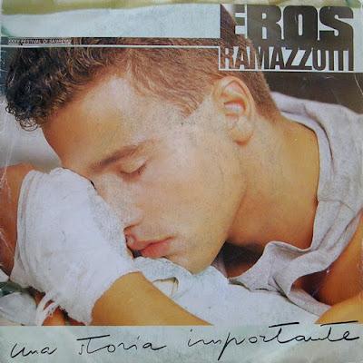 Musica serie 45 giri : Eros Ramazzotti – Una Storia Importante (1985)