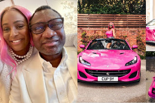 Billionaire Femi Otedola Gifts His 3 Daughters 3 Ferrari Portofino whips (SEE PHOTOS)