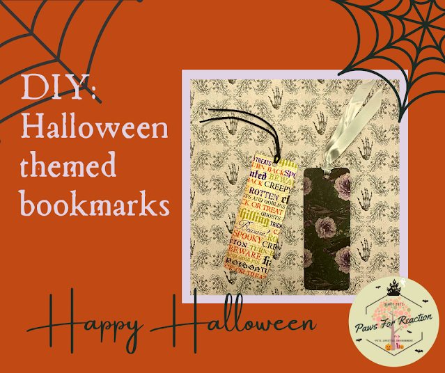 Halloween bookmarks DIY