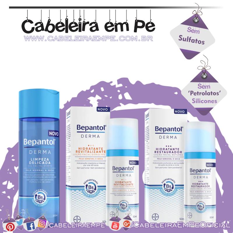 Gel Facial, Hidratantes (Revitalizante e Restaurador) Bepantol Derma