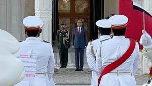 Putra Mahkota UEA, sambut Presiden Jokowi dengan upacara kenegaraan