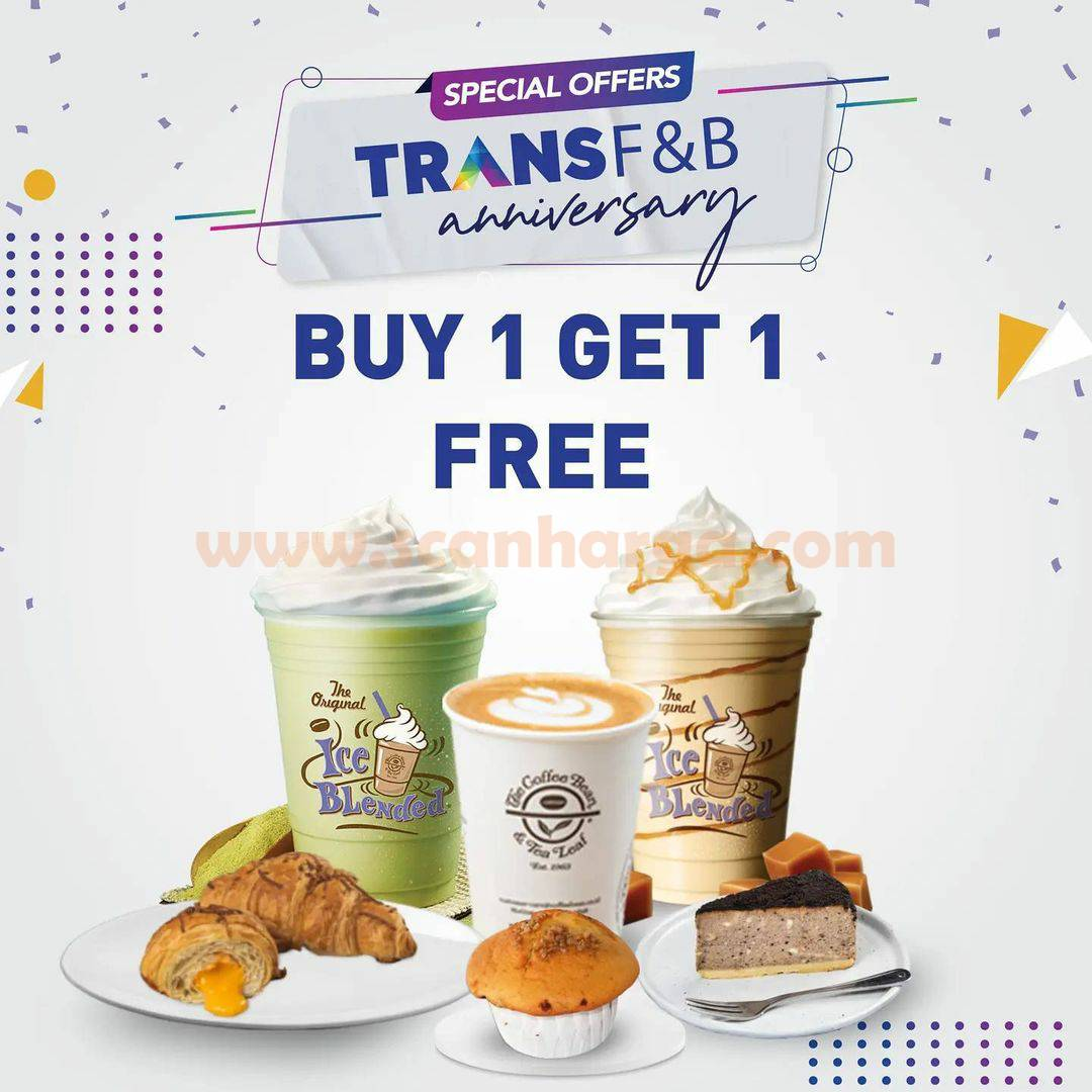The Coffee Bean Promo Special Offers TRANS F&B Anniversary