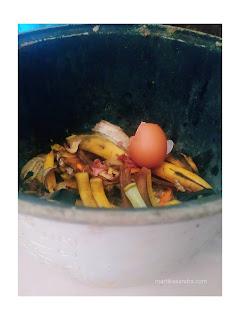 Sampah buah dan sayur yang belum melalui proses pengolahan