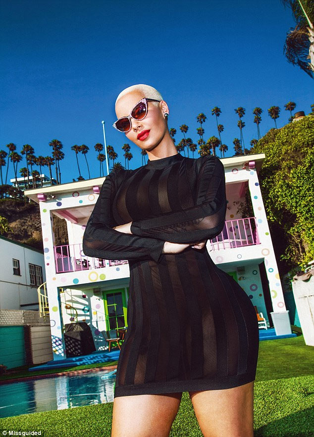 Stunning Amber Rose stars in photoshoot for online boutique Missguided