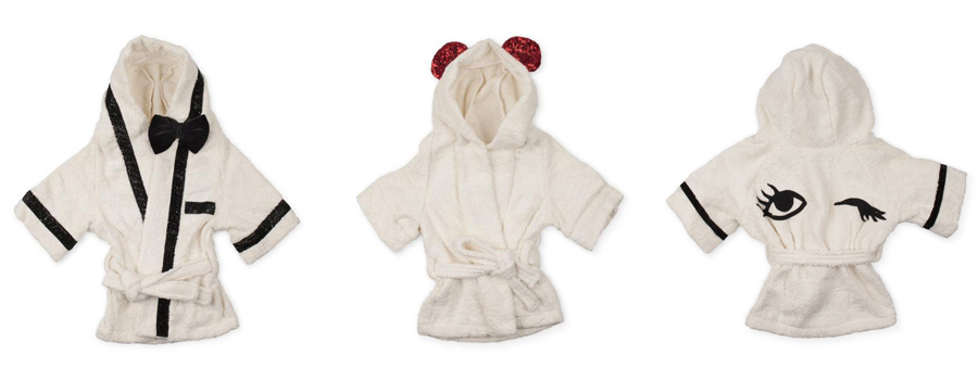 Moshiqa bathrobes for dogs: Best Man, Twinkle and Lady Bug designs