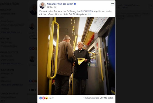 رئيس النمسا يتقاسم الميترو مع المواطنين