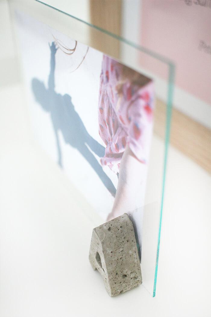 DIY Challenge | Beton & Glas | Bilderrahmen mit Betonbuchstaben