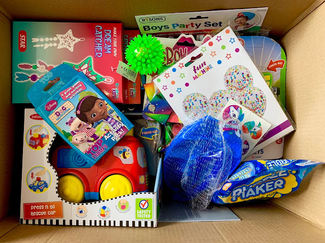 a box full of discounted toys as delivered by PoundToy