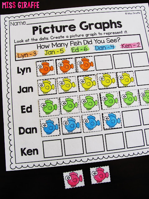Picture graphs activities and worksheets and a lot more fun graphing ideas