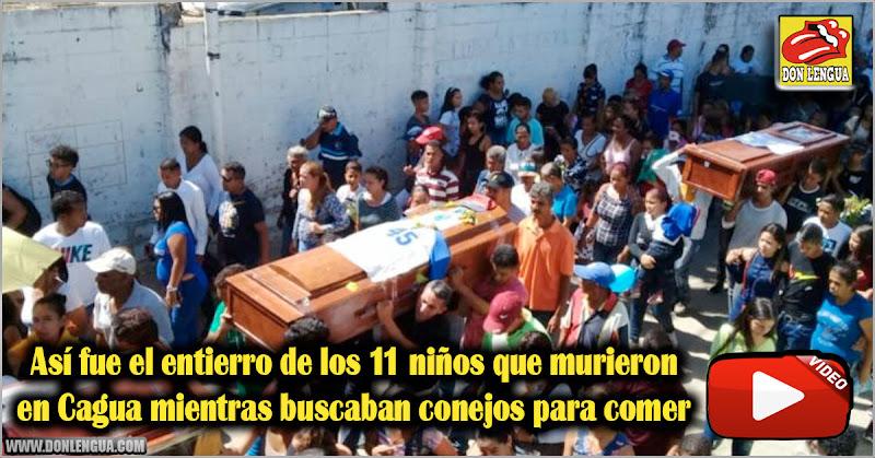 Así fue el entierro de los 11 niños que murieron en Cagua mientras buscaban conejos para comer