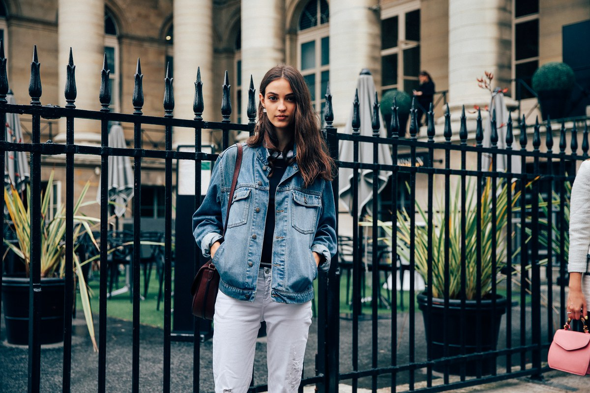 Street Style: Camille Hurel in Double Denim