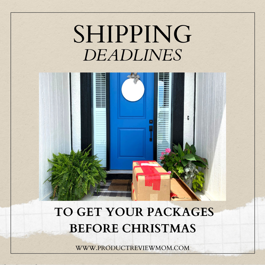 Shipping Deadlines to Get Your Packages before Christmas